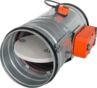 Clapet coupe feu Clean Air Techgnologies CFF EI60, actionneur Belimo