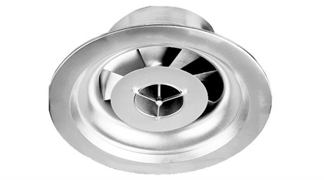 Diffuseur plafond pulsion giratoire variable tube central